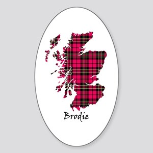 Map - Brodie Sticker (Oval)