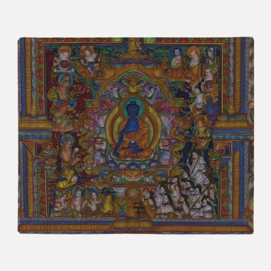 Cute Buddhist Throw Blanket