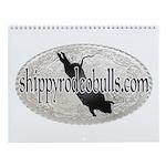 Shippy Rodeo Bulls 12 month Wall Calendar