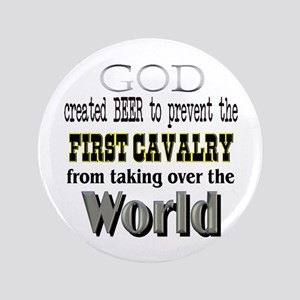 "First Cavalry, Beer & God 3.5"" Button"