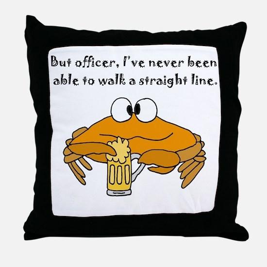 Cool Funny beach Throw Pillow