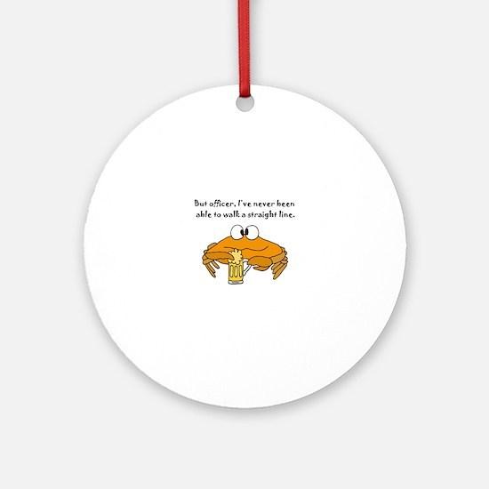 Unique Crab Round Ornament