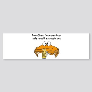 Beer Drinking Crab Bumper Sticker