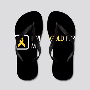 Childhood Cancer: Gold For My Son Flip Flops