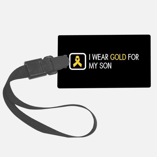 Childhood Cancer: Gold For My So Luggage Tag