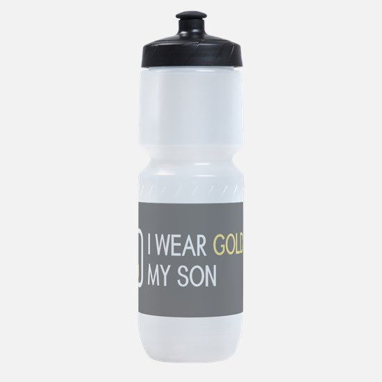 Childhood Cancer: Gold For My Son Sports Bottle