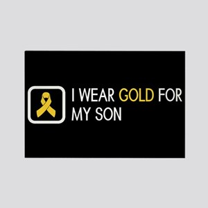 Childhood Cancer: Gold For My Son Rectangle Magnet