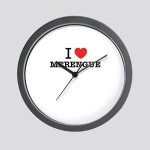 I Love MERENGUE Wall Clock