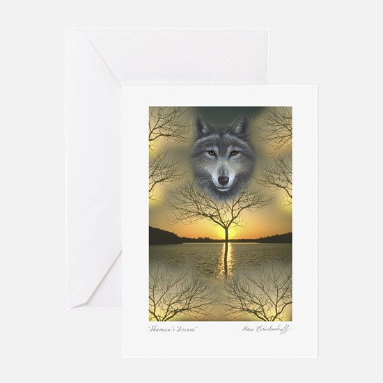 Wolf ~ 'Season's Greetings' Single Greeting Card
