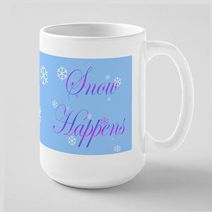 Snow Happens Large Mug