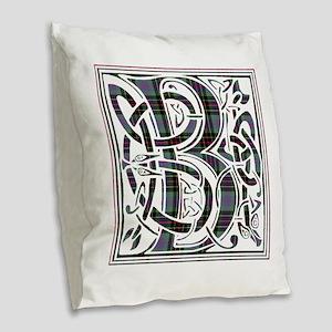 Monogram - Brodie hunting Burlap Throw Pillow