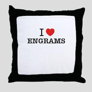 I Love ENGRAMS Throw Pillow