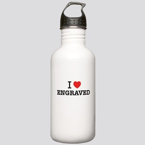 I Love ENGRAVED Stainless Water Bottle 1.0L