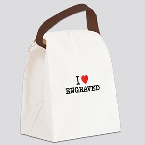 I Love ENGRAVED Canvas Lunch Bag