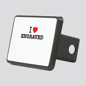 I Love ENGRAVED Rectangular Hitch Cover