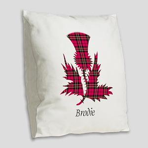 Thistle - Brodie Burlap Throw Pillow