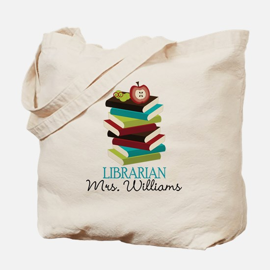 Cute Personalized Librarian Tote Bag