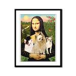 Mona / 3 Chihs Framed Panel Print