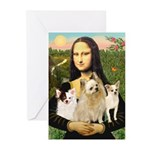 Mona / 3 Chihs Greeting Cards (Pk of 10)