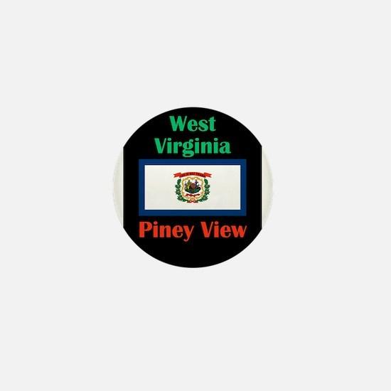 Piney View West Virginia Mini Button