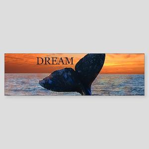 WHALE DREAMS Bumper Sticker
