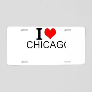 I Love Chicago Aluminum License Plate
