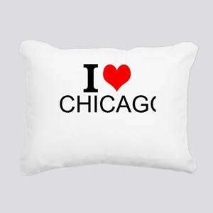 I Love Chicago Rectangular Canvas Pillow