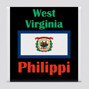 Philippi West Virginia Tile Coaster