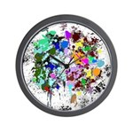 Imagination Shoppe Paint Splatter Wall Clock