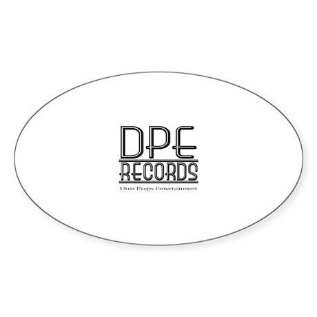 DPE Records Oval Sticker