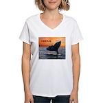 WHALE DREAMS Women's V-Neck T-Shirt