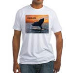 WHALE DREAMS Fitted T-Shirt