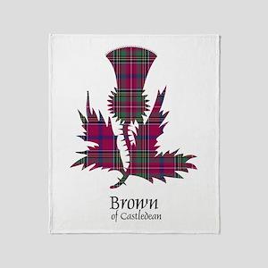 Thistle - Brown of Castledean Throw Blanket