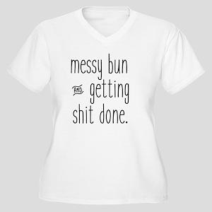 Messy Bun Plus Size T-Shirt