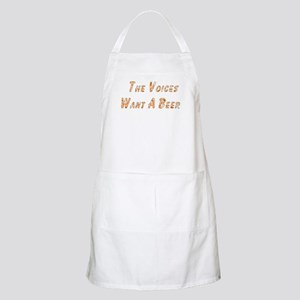 Voices Want A Beer BBQ Apron