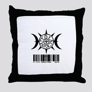1111 WOLF PAK BLACK Throw Pillow
