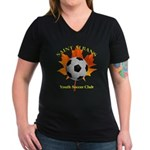 Home Women's V-Neck Dark T-Shirt