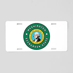 Washington Aluminum License Plate