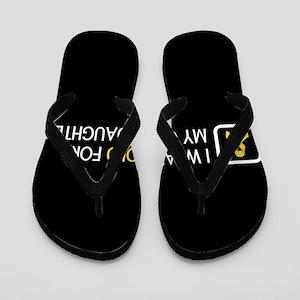 Childhood Cancer: Gold For My Granddaug Flip Flops