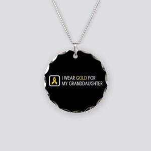 Childhood Cancer: Gold For M Necklace Circle Charm