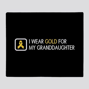 Childhood Cancer: Gold For My Grandd Throw Blanket