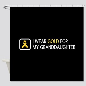 Childhood Cancer: Gold For My Grand Shower Curtain