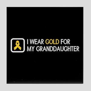 Childhood Cancer: Gold For My Grandda Tile Coaster