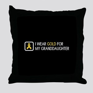 Childhood Cancer: Gold For My Grandda Throw Pillow
