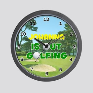 Johanna is Out Golfing - Wall Clock