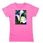 calla lilly art deco flower print Girl's Tee