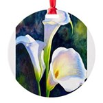 calla lilly art deco flower print Round Ornament