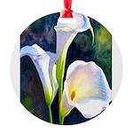 calla lilly art deco flower print Round Ornament