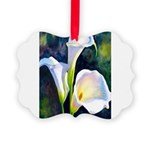 calla lilly art deco flower print Picture Ornament