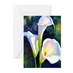 calla lilly art deco flower print Greeting Cards